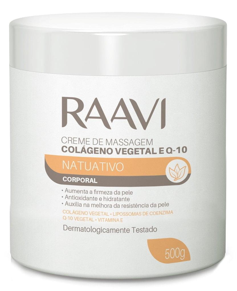 Creme de Massagem Colageno Vegetal e Q 10 Raavi 500g