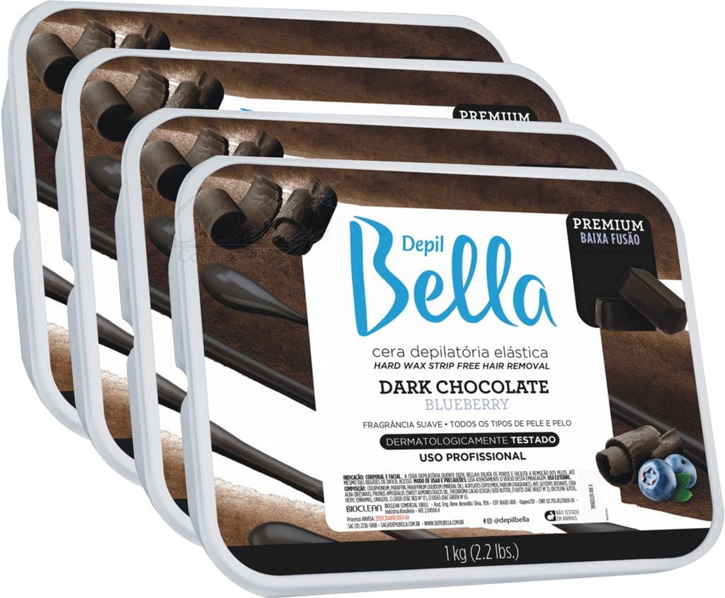 Cera Depil Bella Quente Dark Chocolate (4 X 1kg)