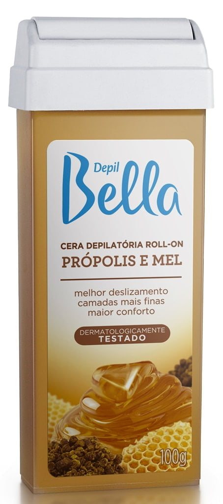 Cera Depil Bella Roll-on 100g Propolis e Mel