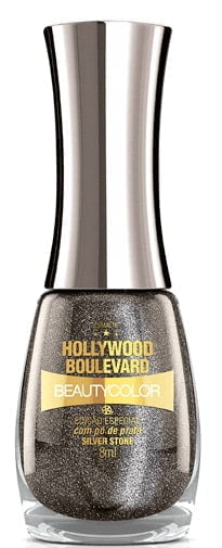 Esmalte BeautyColor Hollywood Boulevard Silver Stone