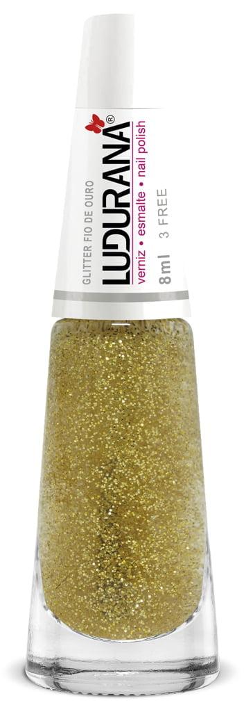 Esmalte Ludurana Glitter Fio de Ouro