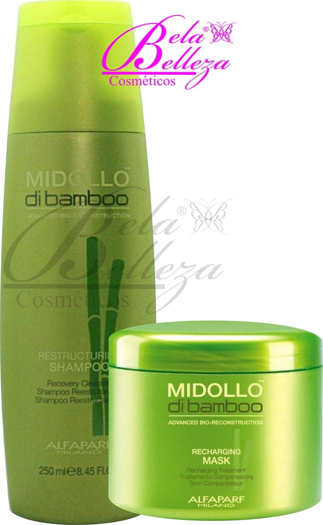 Kit Duo Midollo di Bamboo Alfaparf Reparador (250ml + 500g)