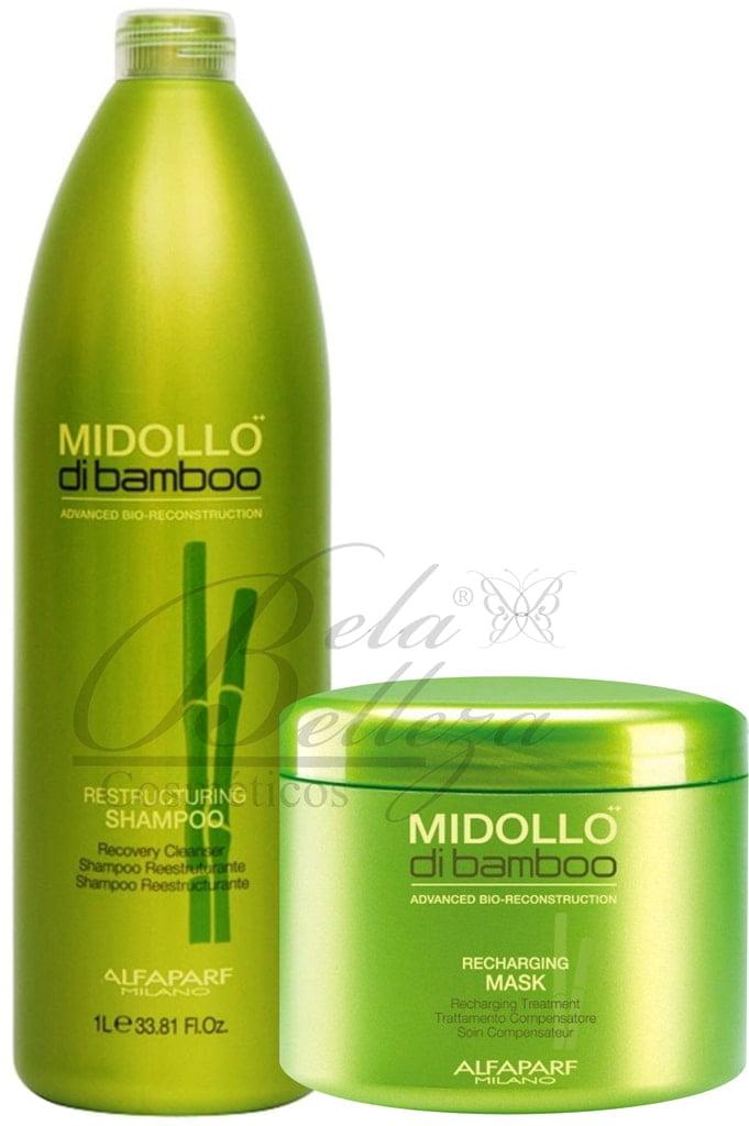 Kit Duo Midollo di Bamboo Alfaparf Reparador (500ml + 500g)