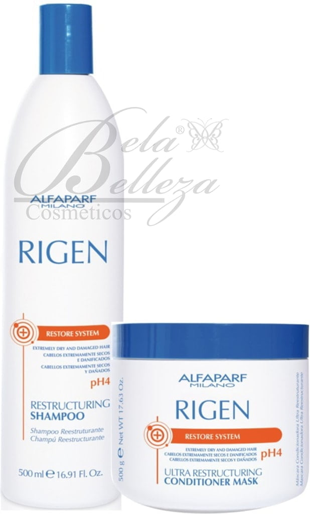 Kit Duo Rigen Alfaparf Ultra Restructuring pH4 (500ml + 500g)