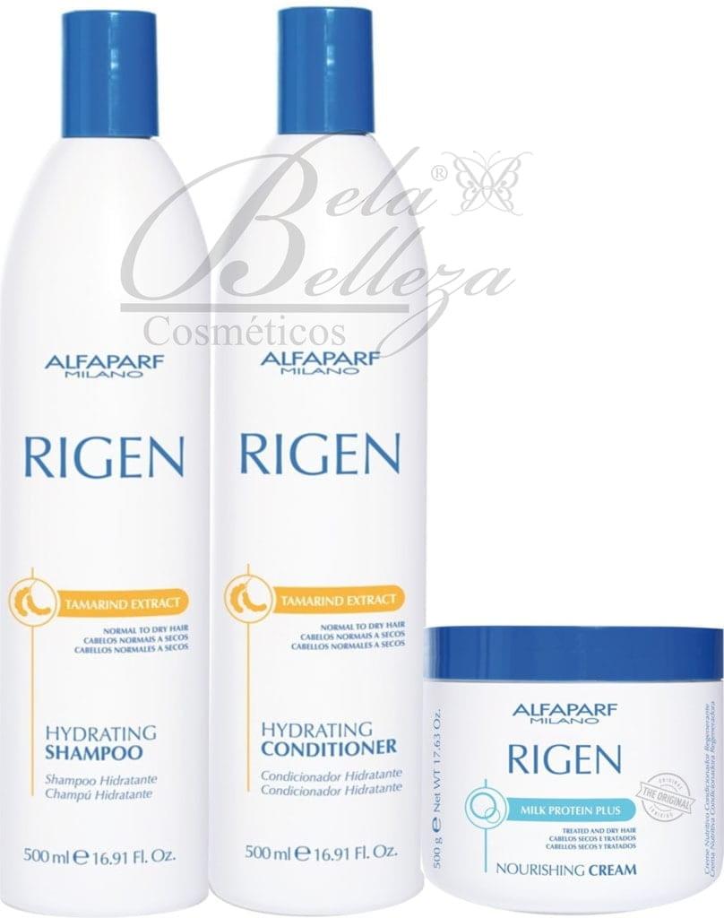 Kit Trio Rigen Alfaparf Nourishing Cream Regenerador