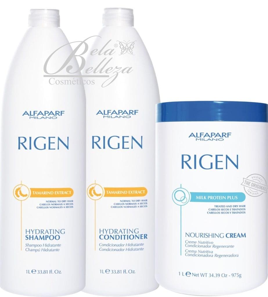 Kit Trio Rigen Alfaparf Nourishing Cream Regenerador (3 x 1L)