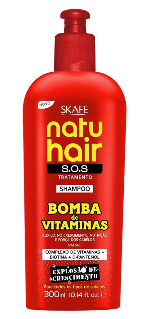 Shampoo NatuHair Skafe 300ml Bomba de Vitaminas