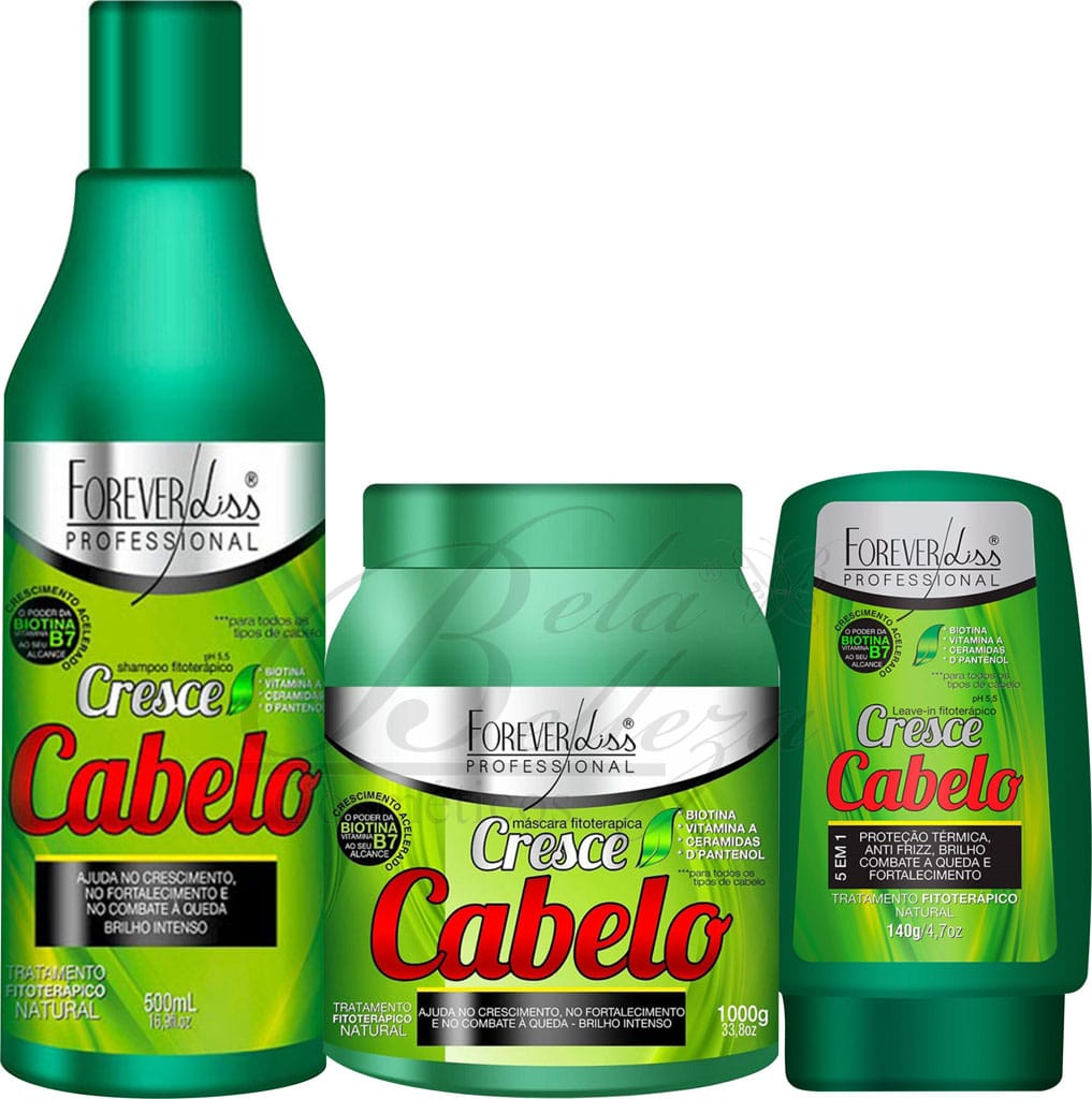 Cresce Cabelo Forever Liss Kit Trio