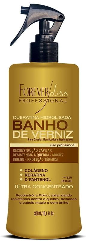 Queratina Hidrolisada Banho de Verniz Forever Liss 300ml