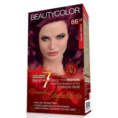 Tinta Beauty Color Vermelhos Infaliveis Kit 66.26 Marsala Infalivel
