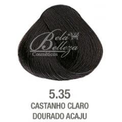 Tinta Evolution Alfaparf 60ml 5.35 Castanho Claro Dourado Acaju