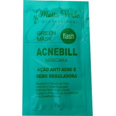 Máscara Verde Acnebill Matto Verde 8g Anti Acne e Sebo Reguladora