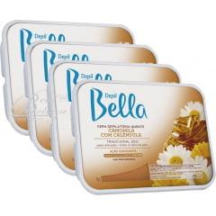 Cera Depil Bella Quente Camomila com Calendula 4kg