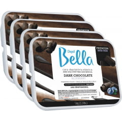 Cera Depil Bella Quente Dark Chocolate (4 X 1kg)