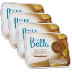 Cera Depil Bella Quente Própolis e mel (4 x 800g)