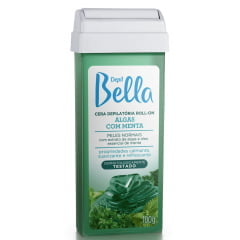 Cera Depil Bella Roll-on 100g Algas com Menta