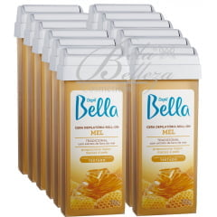 Cera Depil Bella Roll-on 100g Mel (12un x 100g)