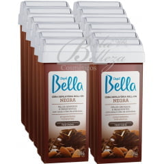 Cera Depil Bella Roll-on 100g Negra (12un x 100g)