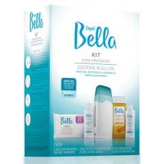 Kit para Depilacao Depil Bella Depilador Roll-on Bivolt