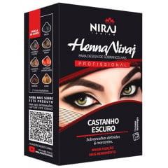 Henna para Sobrancelhas Niraj Castanho Escuro