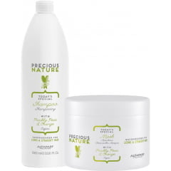 Kit Duo Precious Nature Alfaparf Long & Straight Hair (1L + 500ml)