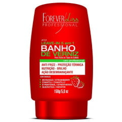 Leave in Banho de Verniz Forever Liss 150g Morango 5 em 1