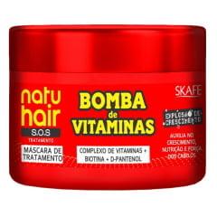 Máscara NatuHair Skafe 300ml Bomba de Vitaminas