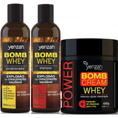 Kit Bomb Whey Yenzah Crescimento Saudável