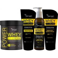 Kit Whey Fit Cream Yenzah Recarga Máxima de Proteínas
