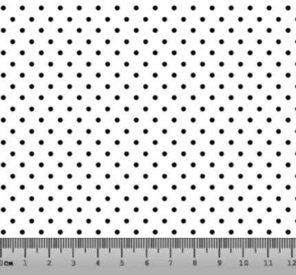 Bolinha Pequena Desenho 21PFB Branco com Preto