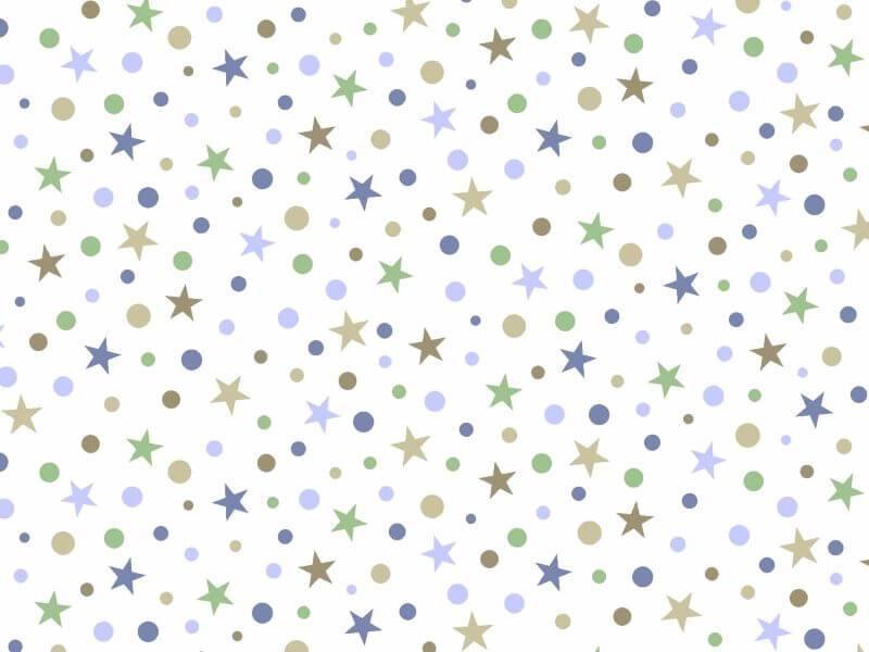 Estrela e Bolinha Des 2421 var02 - Verde Azul e Kaki