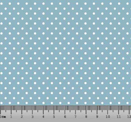 Bolinha Pequena Desenho 86PFT - Azul com Branco