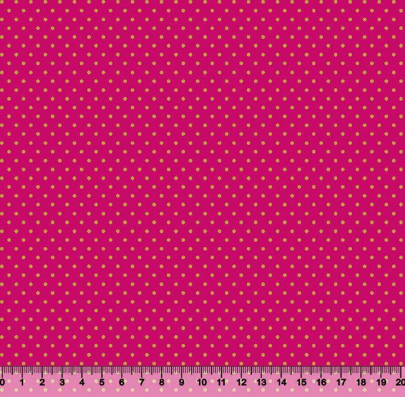 Bolinha Pequena Des p1001 Var408 Pink com Dourada