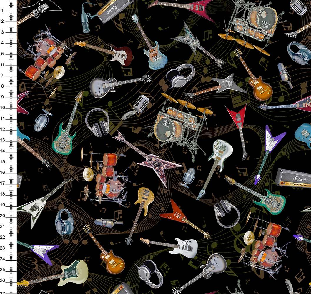 Guitarra Bateria Rock Digital Des 9008E012