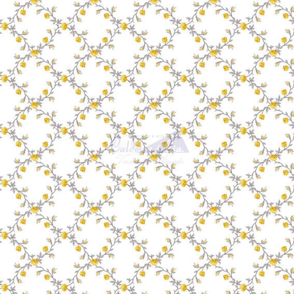 Floral Valentina cor 07 (Amarelo) 180661
