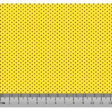 Bolinha Micro Des. 2333 var01 - Fundo Amarelo bola preta