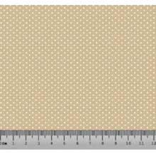 Bolinha Micro Desenho 2333 var17- Bege com Branco