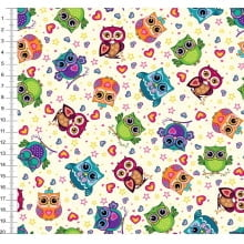 Corujas Coloridas Des. 43821 Var01
