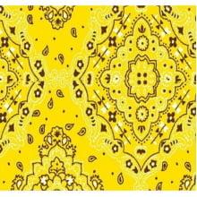 Lenço Bandana Desenho d2272 var11 Amarela