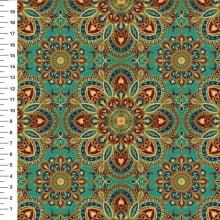 Mandalas Fundo Verde Des 9100E888