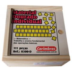 Material Dourado na Caixa de Madeira /111pçs