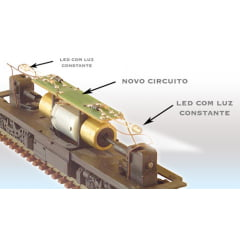 PLACA CIRCUITO COM LED (CURTA) - 30061