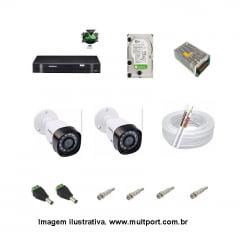 KIT DVR INTEBRAS MHDX 1004 COM 2 CAMERAS VHD1010B
