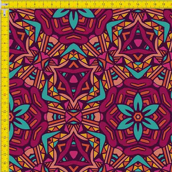 Tecido Tricoline Estampado Digital Vitral  9100e836