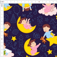 Tecido Tricoline Digital Sonhos de Criança 9100e1889