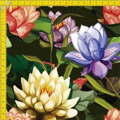 Tecido Tricoline Estampado Floral 9100e907