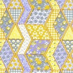 Tecido Tricoline Mista Patchwork Colorido Amarelo  17671cor03