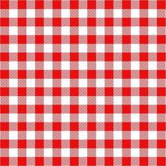 Tecido Tricoline Estampado Xadrez Vermelho com Branco 2213v2