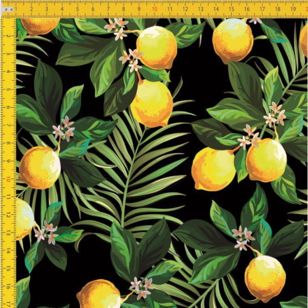 Tecido Tricoline Estampado Limão Siciliano 9100E452