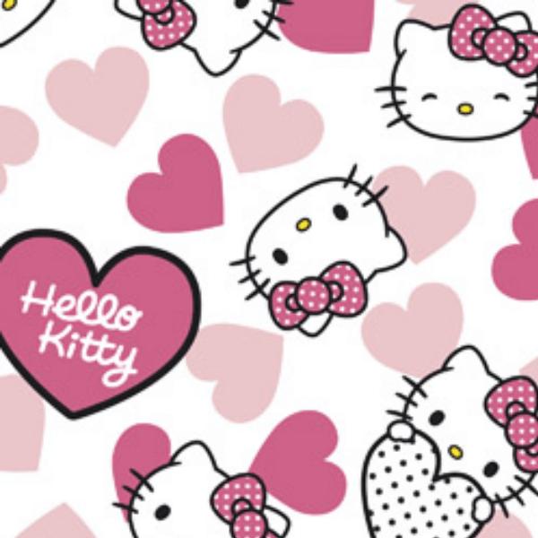 Tecido Tricoline Personagens HELLO KITTY HK004C01